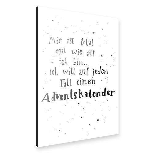 artboxONE Alu-Print 30x20 cm Adventskalender 3 von Künstler Gelbkariert
