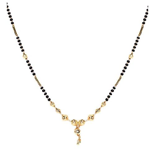 7331eacb837 YouBella Latest Traditional Jewellery Gold Plated Mangalsutra for Women ( Golden)(YBMS 10095)