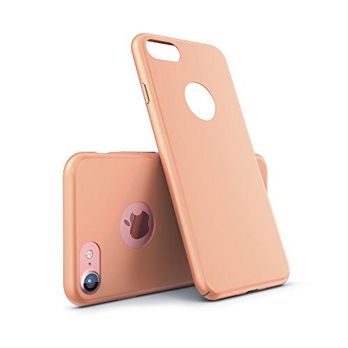 Urcover® Ultra Slim Hardcase kompatibel mit Apple iPhone 7 Hülle Champagner Gold | Kunststoff Hülle Handy-Cover Schutzhülle Schale Zubehör