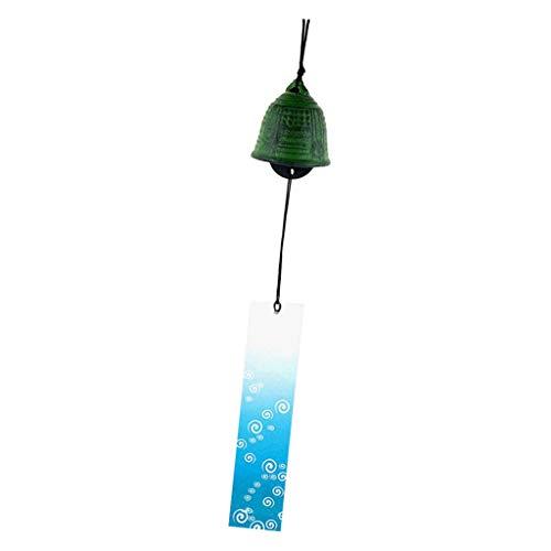 Homyl Tubes Carillons Éoliens Japonaise Bell Suspendus Décor Noël - Vert-Cloche
