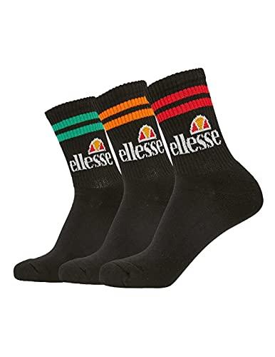 ellesse Socken PULLO 3PK SAAC1208 Schwarz Grün Orange Rot, Size:42-46