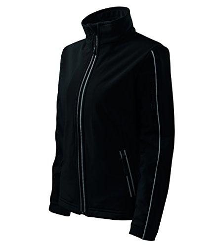 OwnDesigner by Adler Basic Damen Softshell Jacke - Winddichte Funktions-Jacke Wasserabweisend Atmungsaktiv Tailliert (510-Schwarz-XXL)