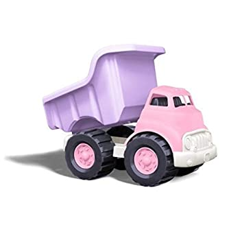 Green Toys Dump Truck Pink/Purple FFP - Pretend Play Motor Skills Kids Toy Vehicle No BPA phthalates PVC Dishwasher Safe Recycled Plastic Made in USA.