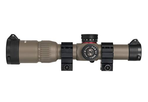 Monstrum G2 1-6x24 First Focal Plane (FFP) Rifle Scope with Illuminated BDC Reticle   Flat Dark Earth