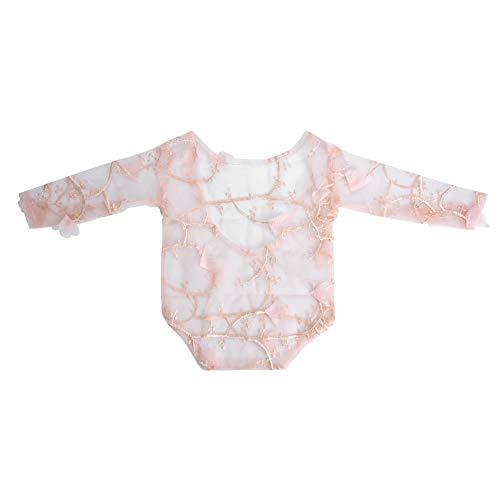 Accesorios de Fotografía para Niños, Dacron Baby Photo Props Bordado Petal Baby-suit Ropa de Encaje Decorativa Body Traje Traje Recién Nacido(Snow tooth)