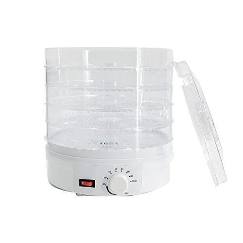NICCOO Deshidratador con regulador de temperatura, 35-70, deshidratador de alimentos, 5 pisos, temporizador de 350 W, deshidratador de 12 horas, para frutas, carne, verduras, frutas