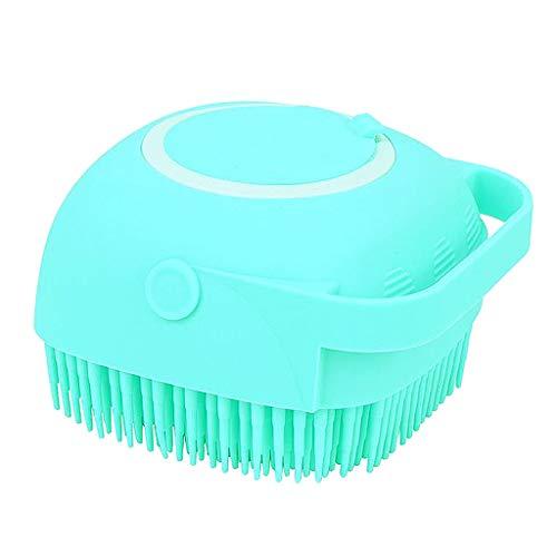 #N/A Silicone Body Scrubber, 2 in 1 Bath, Shampoo Body Lotion Dispenser Brush Silicone Bath Body Brush with Soft Brush Head Skin Exfoliation and Massaging - Green