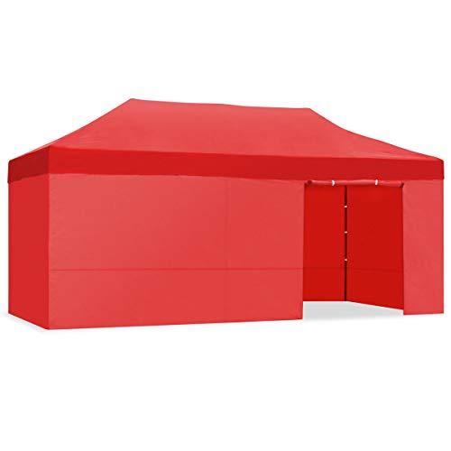 Kewayes CARPLE-3X6 ROJO Plegable Impermeable Exterior, Carpa de Plegado Fácil para Eventos, Jardín, Fiestas al Aire Libre, Verde, 3x6m