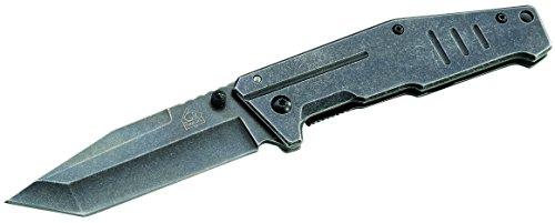 Puma TEC Erwachsene Messer Einhandmesser Stonewashed-Finish Länge geöffnet: 20.2cm, Mehrfarbig, One Size