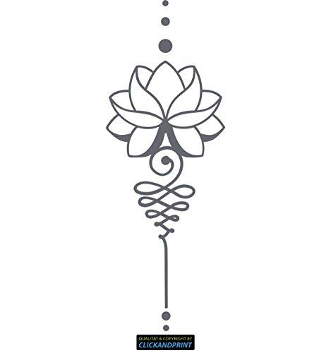 CLICKANDPRINT Aufkleber » Lotus Dekoration, 250x90,1cm, Betongrau • Wandtattoo / Wandaufkleber / Wandsticker / Wanddeko / Vinyl
