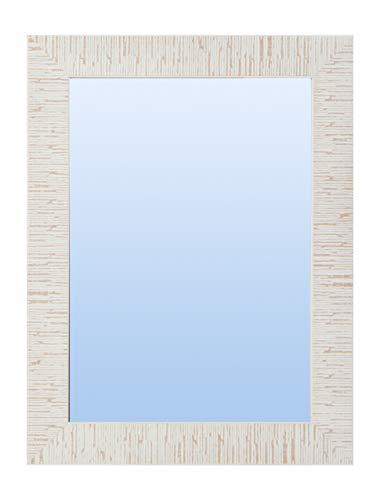 Espejo de Pared con Marco de Madera, rústico Rayas (Varios tamaños y Colores) Serie 2648-29 (120 x 80 cm)
