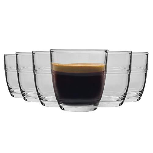 Duralex Gigogne - Juego de Vasos pequeños para café o Licor - 90ml - Pack de 12
