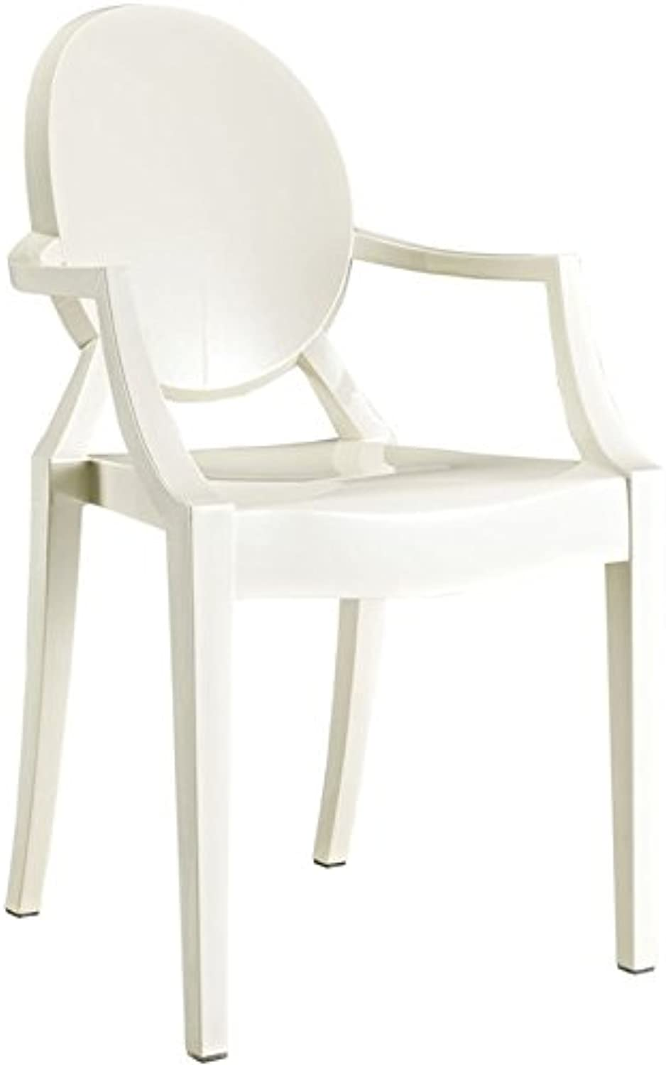 Hawthorne Collection Dining Arm Chair in White