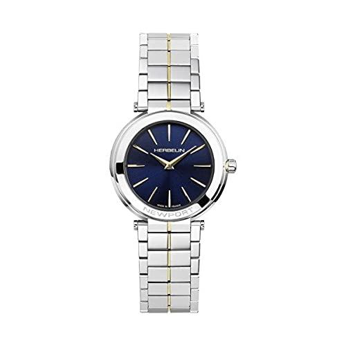 Herbelin 16922/BT15 Newport Slim - Reloj de acero para mujer, 32 mm, color azul