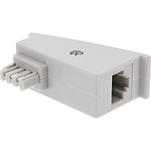 InLine 69949 TAE-F DSL Adapter, TAE-F Stecker auf RJ45 Buchse, 8P2C für Fritzbox