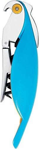 Alessi Parrot AAM32 AZ Sommelier-Korkenzieher, aus Gußaluminium und PC, hellblau
