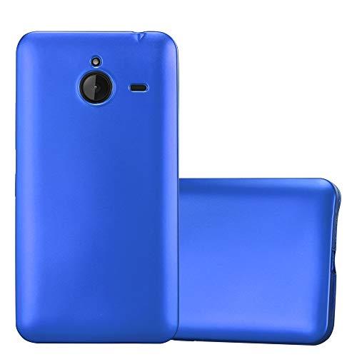Cadorabo Custodia per Nokia Lumia 640 XL in AZZURRO METALLICO - Morbida Cover Protettiva Sottile di Silicone TPU con Bordo Protezione - Ultra Slim Case Antiurto Gel Back Bumper Guscio
