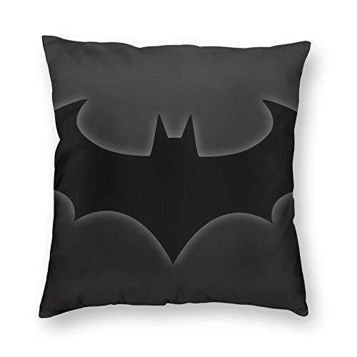 ZVEZVI Fundas de Almohada Decorativas con símbolo de Batman 18X18 para sofá Cama de habitación en casa, Funda de cojín Cuadrada Suave
