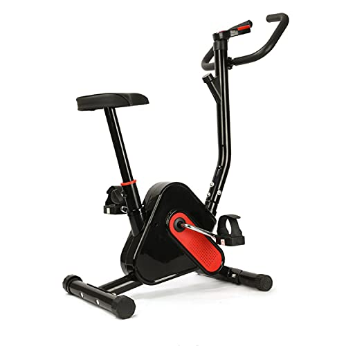 WUYANJUN Exercise Bike, Indoor Cycling Bike Stationary Fitness Workout Trainer, Cardio Tools, with Comfortable Seat Cushion, Lcd Monitor, Silent Smooth, Solid