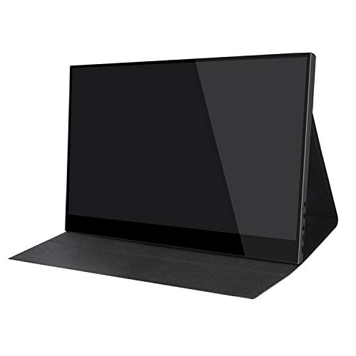 Ever Lustre 15.6 Inch Portable Gaming Monitor 4K Touch Screen 3840x2160 UHD Build-in Battery Display Screen for PS4, Xbox, Switch, Smart Phone, Laptop (Battery Monitor+case)