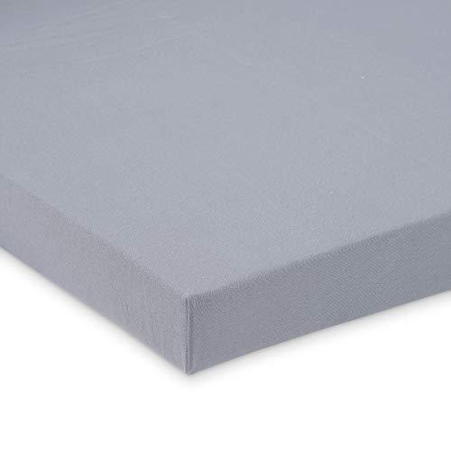FabiMax 3667 Jersey Spannbettlaken für 6-eck Laufgitter, grau