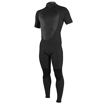 O'Neill Men's O'Riginal 2mm Back Zip Short Sleeve Full Wetsuit, Black/Black, XL