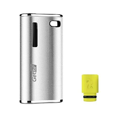 電子タバコ Airistech Gethi G2 カートリッジバッテリー ヴェポライザー カートリッジ 対応 510規格 510スレッド Cartridge battery Vaporizer VAPE ドリップチップ付き プレゼントセット (Silver