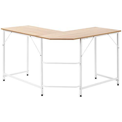 Escritorio en forma de L para computadora de oficina, escritorio de esquina, portátil, estudio, estación de trabajo, escritorio de PC grande, mesa de juegos, hogar, oficina