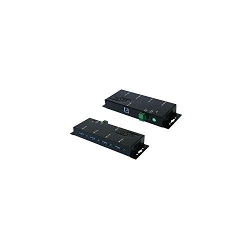 Exsys EX-1184HMV Knoten–Hub (5000Mbit/s, CE, FCC, RoHS, Schwarz, Metall, 300g, USB 3.0)
