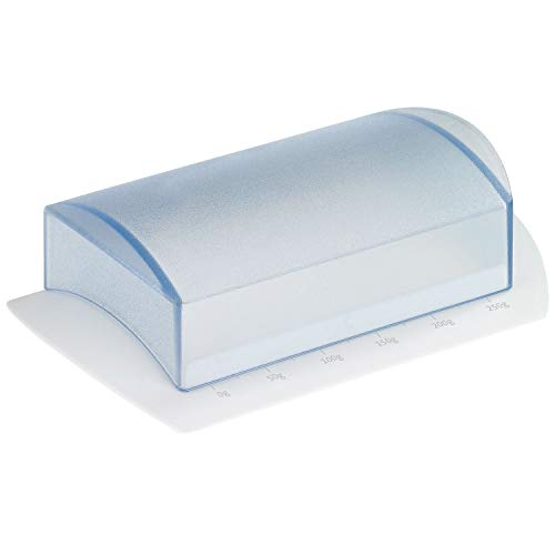 Westmark Beurrier de Table avec Echelle, Plastique, Blanc/Transparent, 21162270