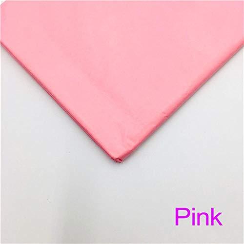 Miner 10 vellen inch Tissuepapier Bloem Kleding Overhemd Schoenen Geschenkverpakking Ambachtelijke papierrol Wijn inpakpapier, roze