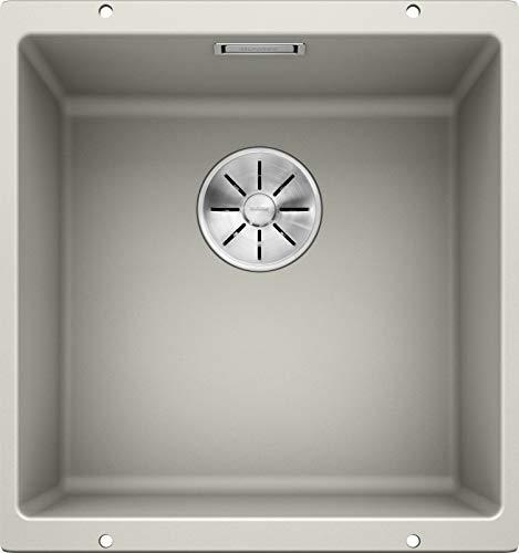 BLANCO SUBLINE 400-U – Granite Kitchen Sink for 50 cm Wide Base Units – Undermounted – Made of SILGRANIT – Grey – 523425