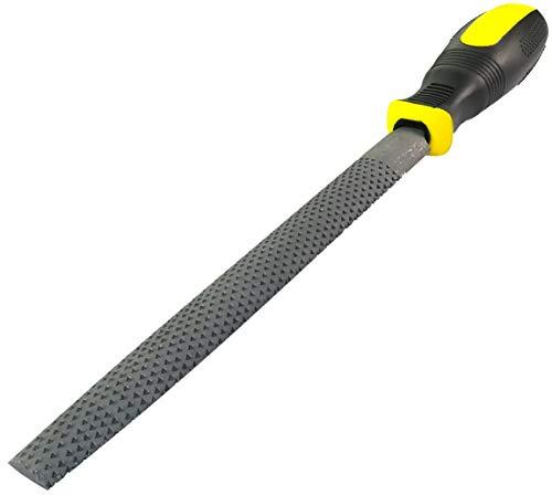 AERZETIX - Lima/Escofina para madera de acero semi redondo - Longitud 200mm - Herramienta manual para carpintero - Mango bimaterial - Instrumentos de acabado Limas/Alfileres/Dientes - C45954