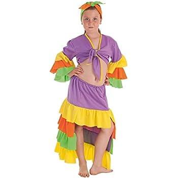 Creaciones Llopis Disfraz de Rumbera Varadero para niña: Amazon.es ...