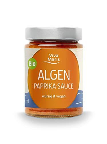 Viva Maris | ALGEN -Paprika-Sauce | Vegan | Bio | 300 ml | Köstlich mit Reis, Tofu, Kartoffelspalten oder als Dip