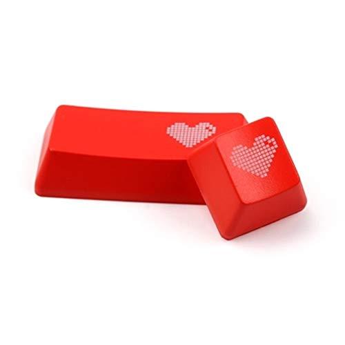 WULE-RYP Teclado Transparente mecánico de Llave for Tapones de ABS del corazón del Pixel tecla Enter del Teclado R4 for los OEM Rojo Negro (Colore : Red Enter Key Cap)
