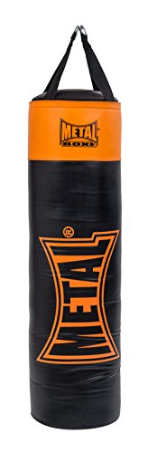 METAL BOXE Indiana Sac de Frappe Mixte Adulte, Noir/Orange