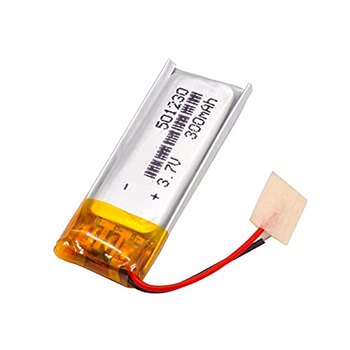 1 Uds 3.7 v 300 Mah PolíMero De Litio 501230 Batería Recargable, para Reproductor Mp3 Mp4 Mp5 Auricular Ratón InaláMbrico Reloj Inteligente Selfie Stick