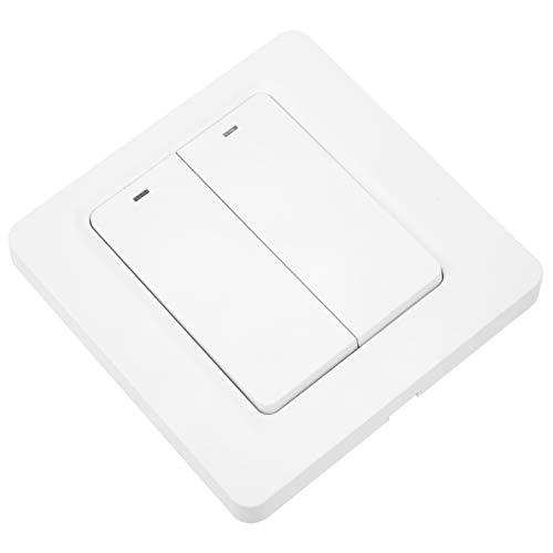Interruptor inalámbrico inteligente del interruptor 100‑240VAC 2.4GHZ del botón de WiFi blanco para el hogar para la oficina
