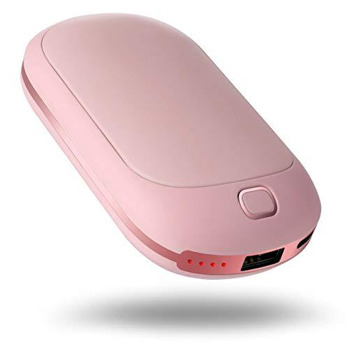Portable Hand Warmer, 5200mAh Power Bank Rechargeable Hand Warmer Heater Pocket Electric Handwarmer,...
