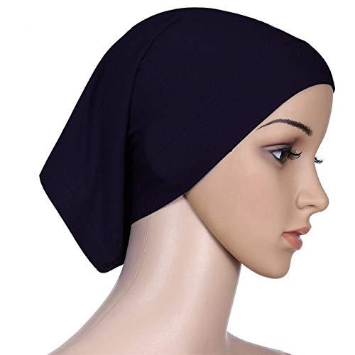 Berrd Turbante de Mujer Color sólido Chal y Turbante de Mujer sólido Envuelto en Tul Cachemir - 99