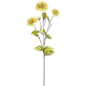 26″ Silk Zinnia Flower Spray -Cream (Pack of 12)