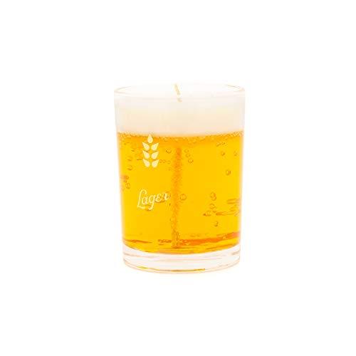 Luckies of London - Vela de cerveza, tamaño libre, color amarillo