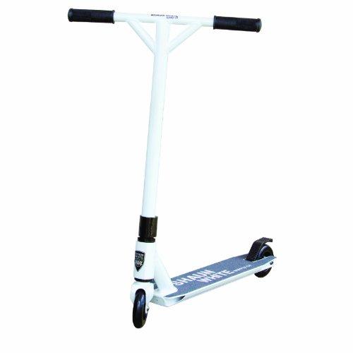 Shaun White Supply Co. Kinder Stunt Monopattino, 11,5mmm/4,5, Bianco (Weiß Schwarz), 11,5 mm / 4,5