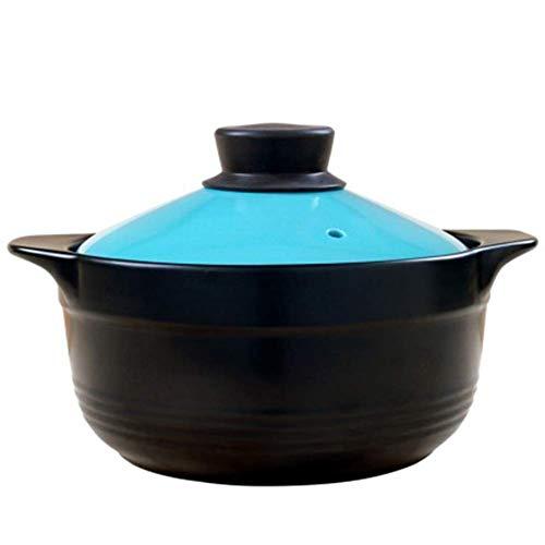 AXAA Tajie Round Emaille Gusseisen mit einem Durchmesser von 24 cm, kompatibel mit Allen Wärmequellenöfen, einschließlich Tajie Slow Cooker Blue