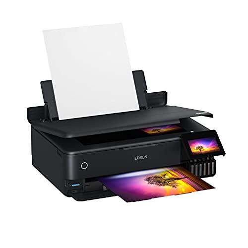 Epson EcoTank ET-8550 3-in-1 Tinten-Multifunktionsgerät (Kopie, Scan, Druck, A3, 5 Farben, Fotodruck, Duplex, WiFi, Ethernet, Display, USB 2.0), Tintentank
