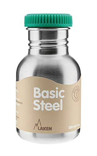 Laken Botella Básica INOX 0,35 L-Tapón Rosca Acero, Adultos Unisex, Verde (Verde), Talla Única