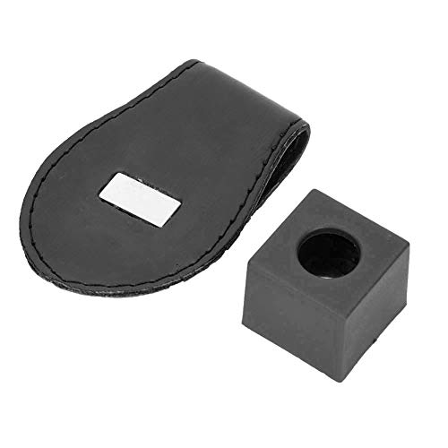 Yunnyp Biljart Accessoires benodigdheden IJzeren Poeder Clip zwart, Leer Draagbare Biljart Ball Pool Chalk Houder Compact Size Professionele Snooker Clip Accesso