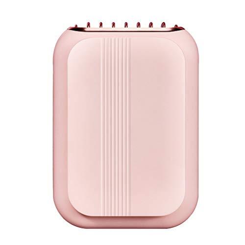 CAREMiLLE Ventilador de Cuello Colgante portátil Manos Libres USB Enfriador de Aire Ajustable de 3 velocidades, Mini Ventilador Plegable portátil, Rosa
