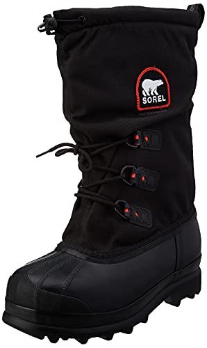 SOREL - Men's Glacier XT Insulated Winter Boot, Black, Red Quarry, 7 M US